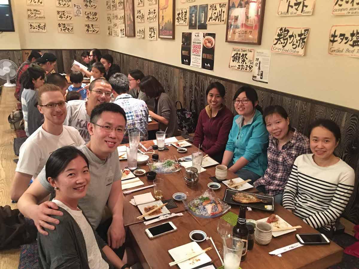 Group dinner, 2017